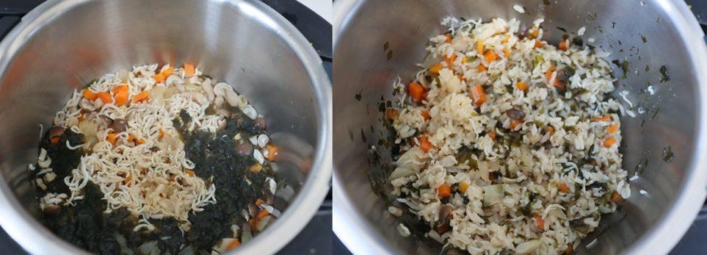 ホットクックで作る離乳食:しらすとわかめの炊き込みご飯の作り方