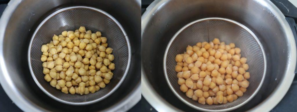 ひよこ豆をホットクックで蒸したもの