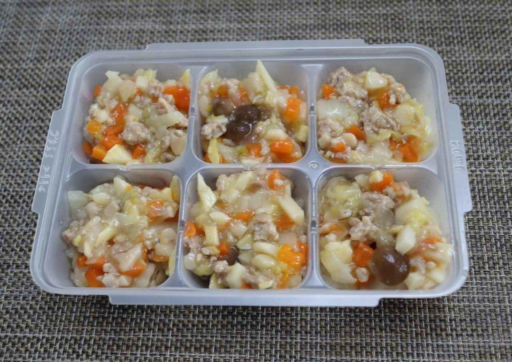 ホットクックで作る離乳食:八宝菜の完成