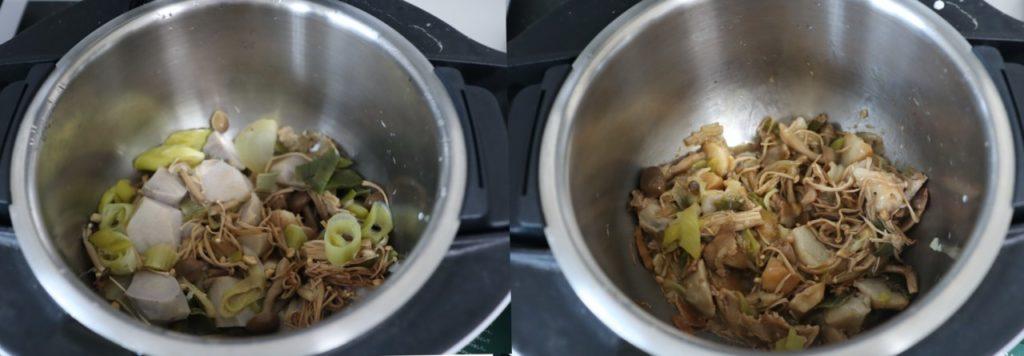 里芋と豚肉ときのこの無水煮物のレシピ