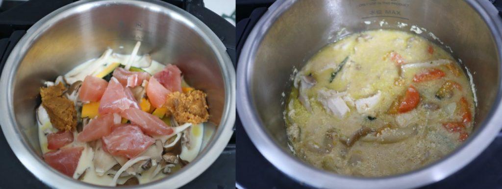 具沢山野菜とかじきマグロの味噌味豆乳スープのレシピ