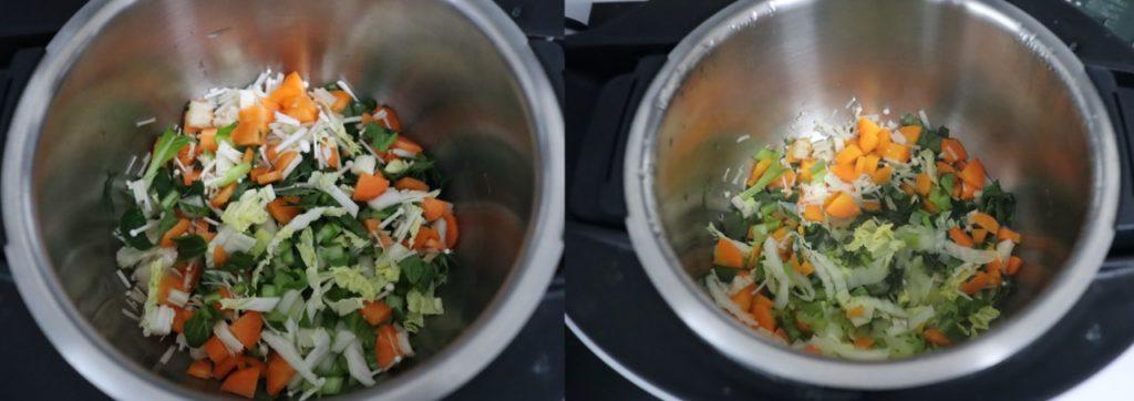 ホットクックで作る離乳食:簡単!野菜炒めのレシピ