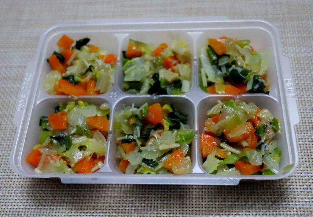 ホットクックで作る離乳食:簡単!野菜炒めの出来上がり