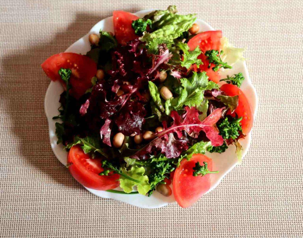 ガーデンレタスのサラダ