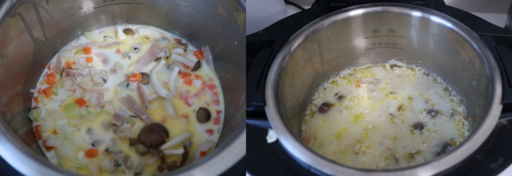 ■ホットクックで作るハマグリのクラムチャウダーのレシピ