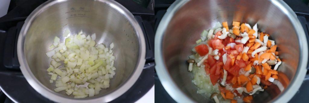 ホットクックで作る幼児食:トマトと野菜のチーズリゾットの作り方