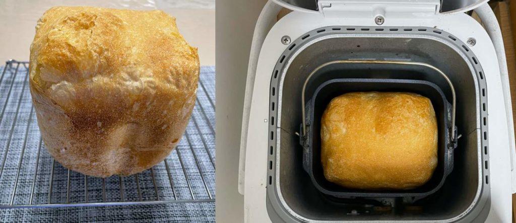 ホームベーカリーでのフランスパンの作り方