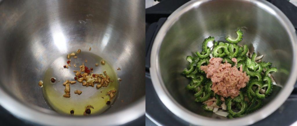 ゴーヤとツナのペペロンチーノのレシピ